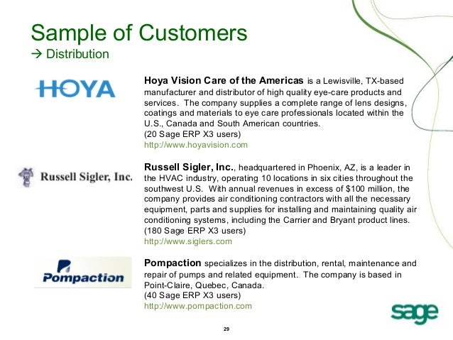 Sage ERP X3: Distribution Industry