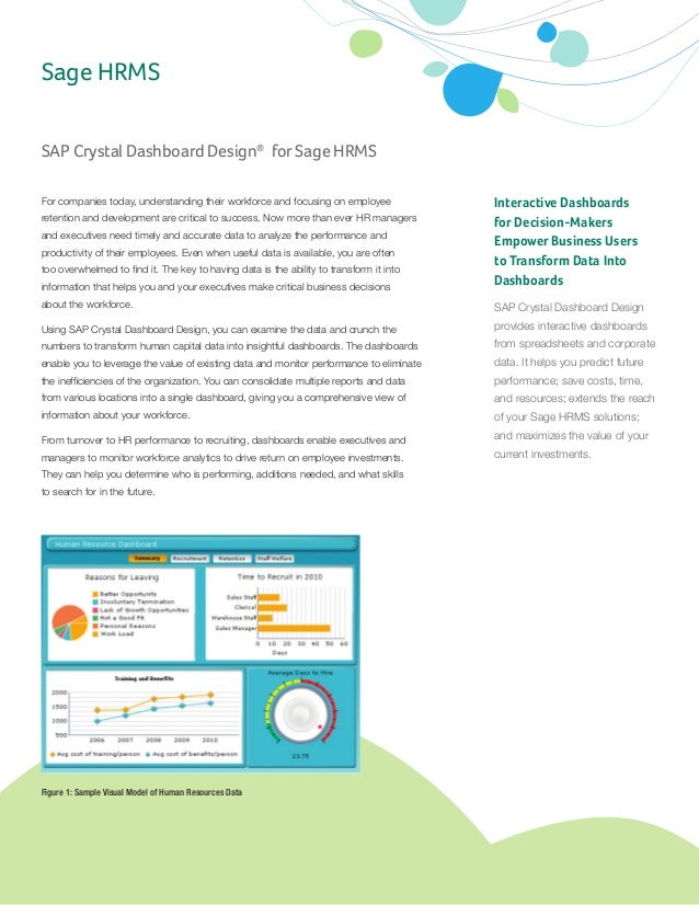 SAP Crystal Dashboard Design® for Sage HRMS Interactive Dashboards for Decision-Makers Empower Business Users to Transform...