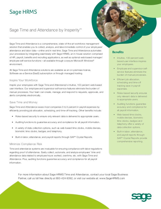Sage Time and Attendance is a comprehensive, state-of-the-art workforce managementsolution that enables you to collect, an...