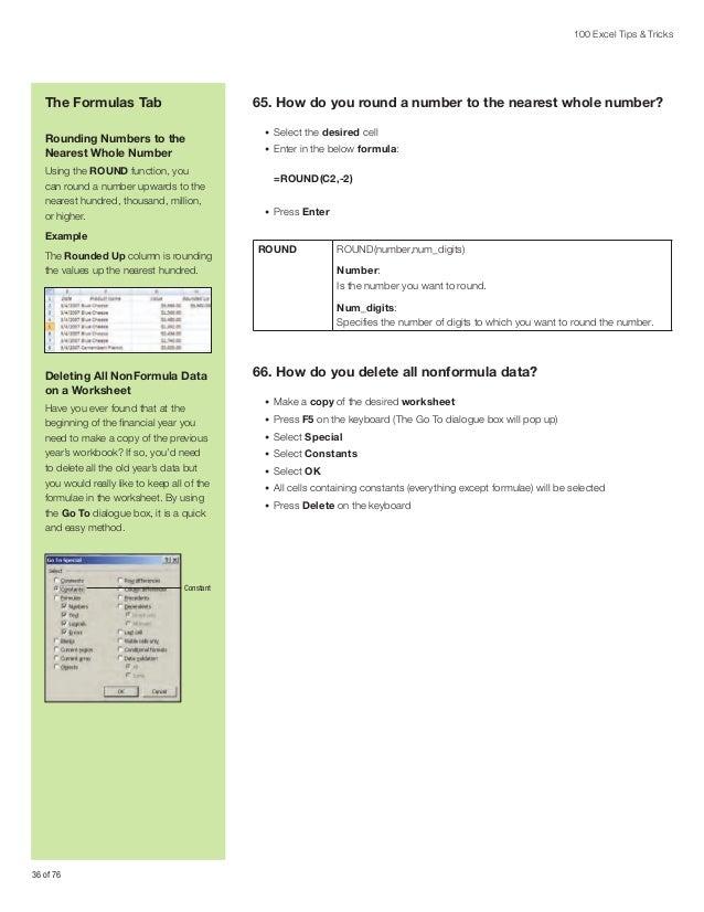 Printable Worksheets sage example worksheets : Sage Intelligence 100 Microsoft Excel Tips and Tricks