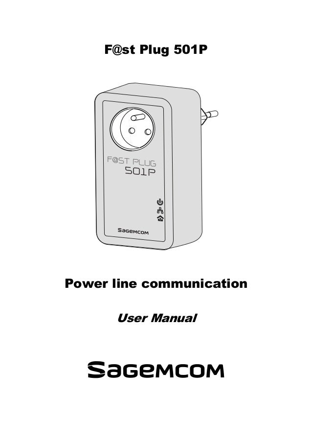 F@st Plug 501P Power line communication User Manual