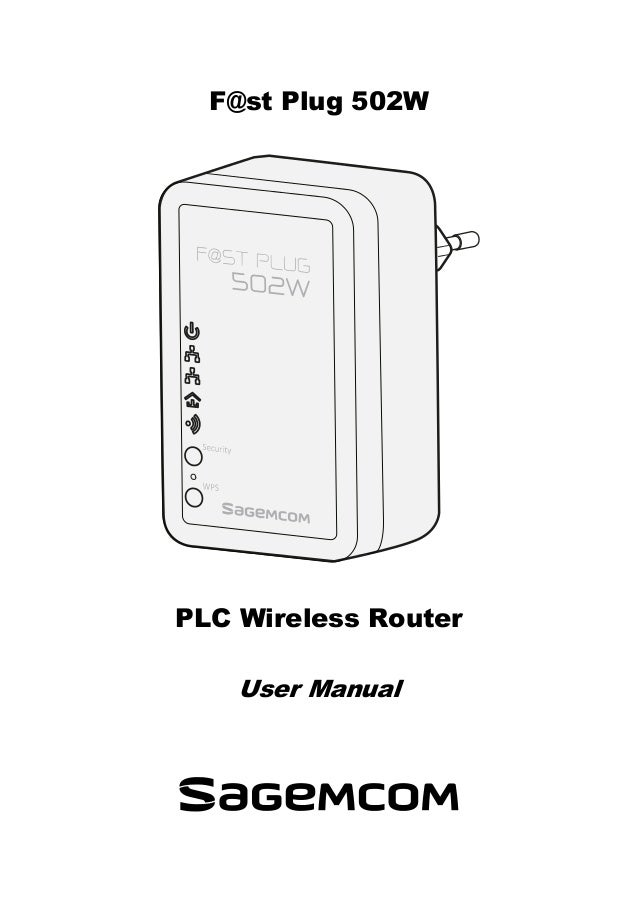 Sagemcom F@ST Plug 502W Powerline Wi-Fi Extender User Guide