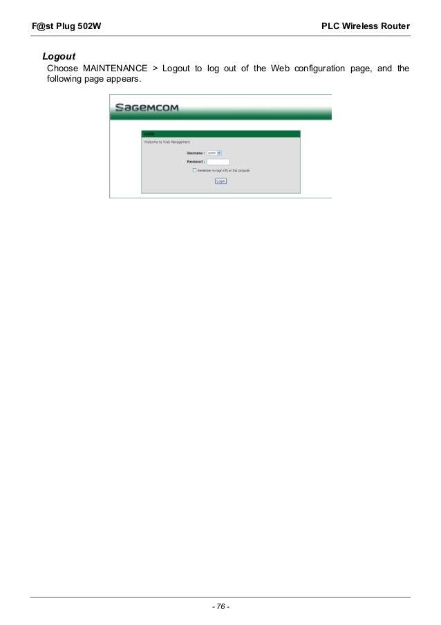 Sagemcom Fst 3184 User Manual