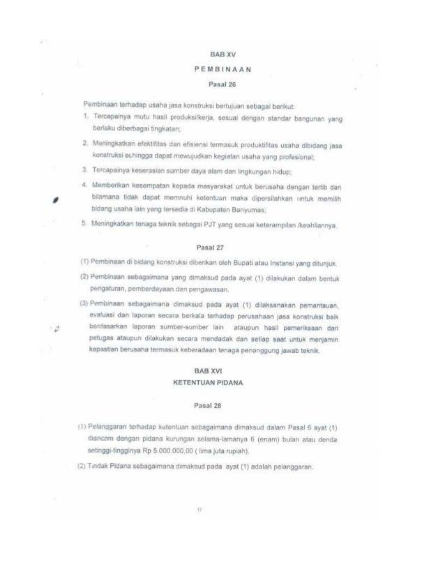 Peraturan Daerah Kabupaten Banyumas Nomor 1 Tahun 2008 Tentang Izin U