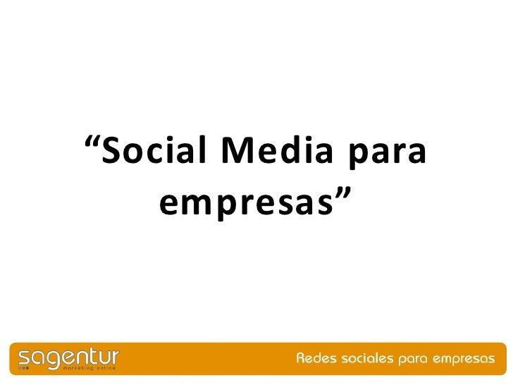 """Social Media para    empresas"""