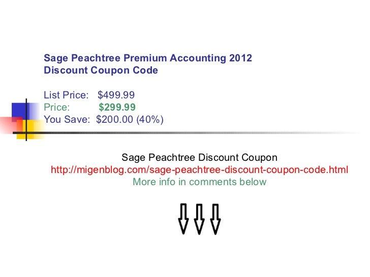 Sage act premium 2011 discount