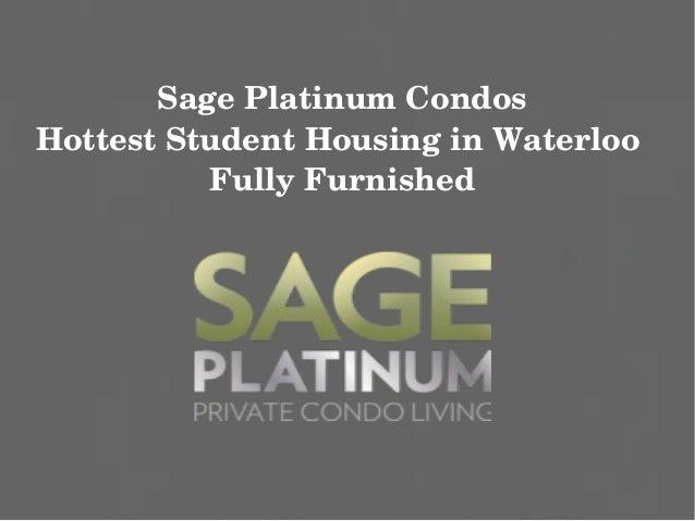 Sage Platinum Condos Waterloo | $199,900 | Get VIP Access