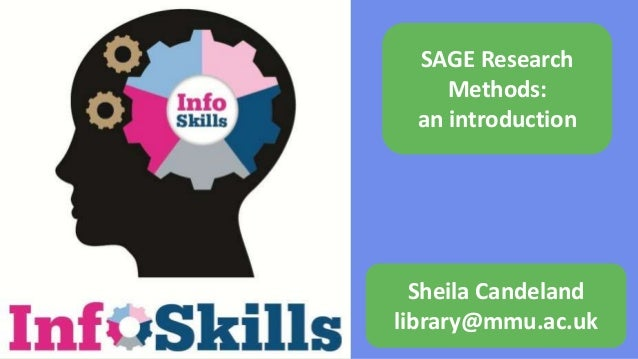 SAGE Research Methods: an introduction Sheila Candeland library@mmu.ac.uk
