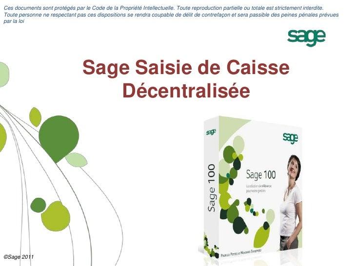 DÉCENTRALISÉE CAISSE GRATUIT 100 SAISIE TÉLÉCHARGER DE SAGE