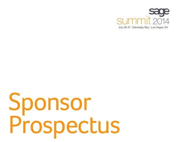 Sponsor Prospectus July 28-31 | Mandalay Bay | Las Vegas, NV