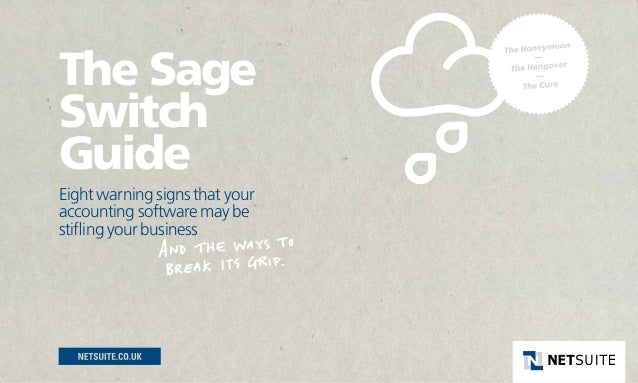 The SageSwitchGuideEight warning signs that youraccounting software may bestifling your business