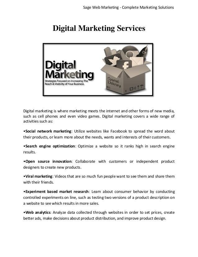 Sage Web Marketing - Complete Marketing Solutions  Digital Marketing Services  Digital marketing is where marketing meets ...