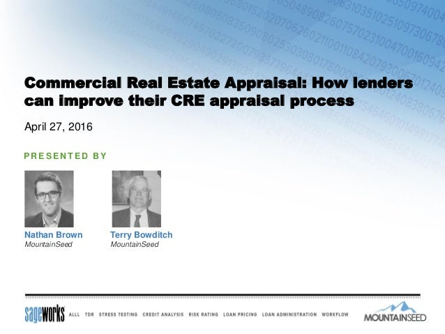 Commercial Property Appraisal : Commercial real estate appraisal how lenders can improve