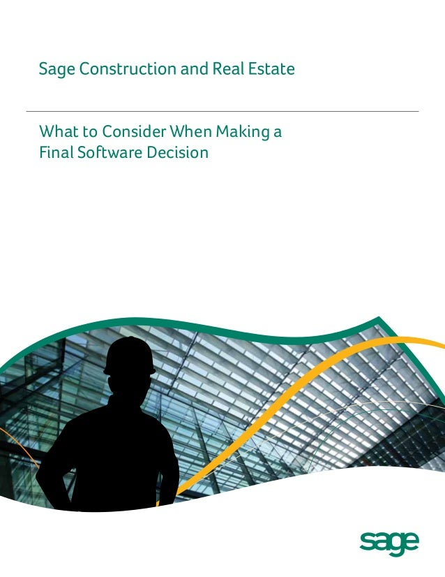 What to Consider When Making aFinal Software Decision