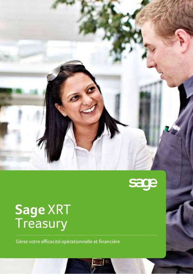 SageXRT Treasury Gérez votre efficacité opérationnelle et financière