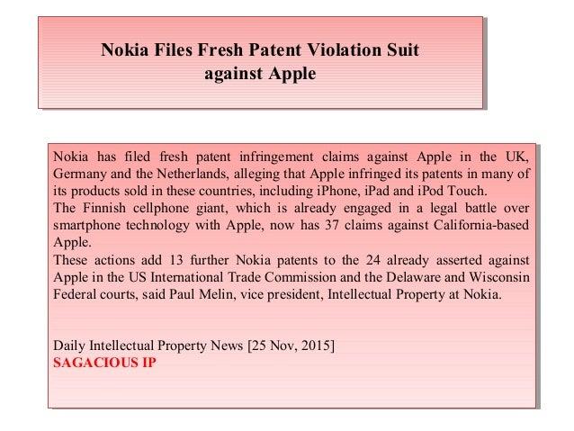 Nokia Files Fresh Patent Violation Suit against Apple Nokia Files Fresh Patent Violation Suit against Apple Nokia has file...
