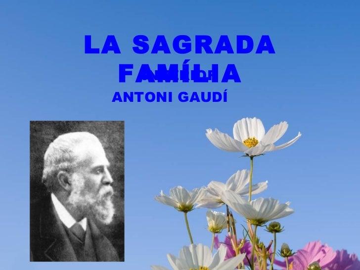 ANTONI GAUDÍ LA SAGRADA FAMÍLIA INTERIOR