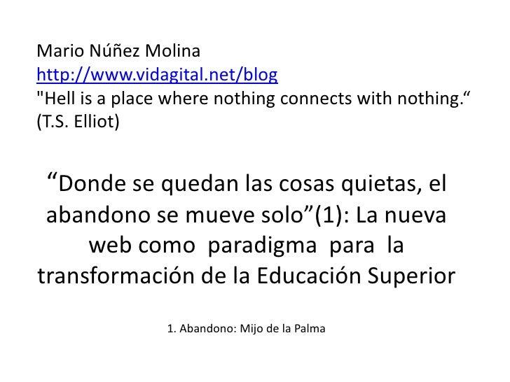 La nueva web y la transformación de la Educación Superior