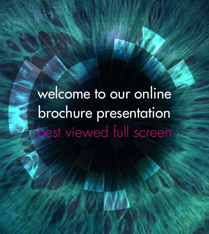 welcome to our online brochure presentation best viewed full screen