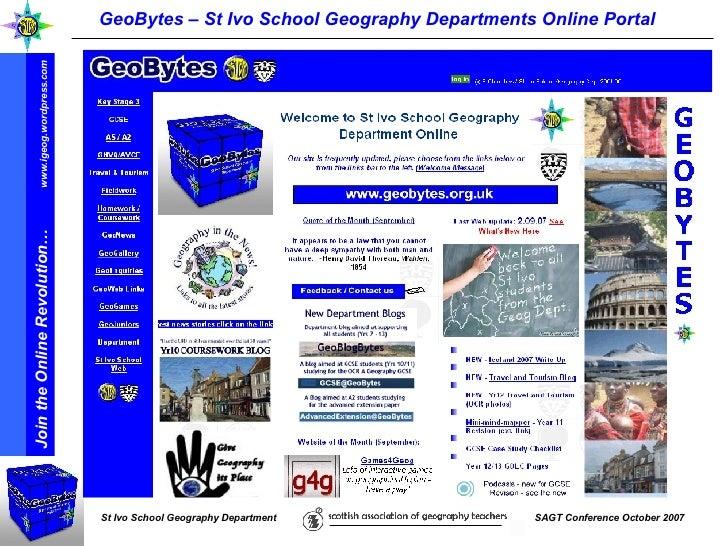 GeoBytes – St Ivo School Geography Departments Online Portal