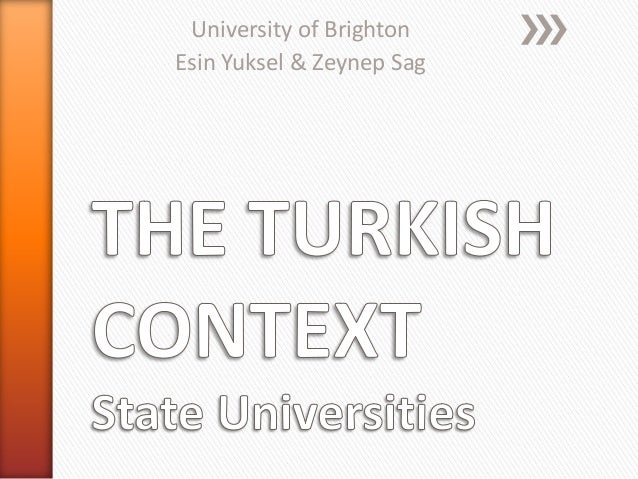 University of BrightonEsin Yuksel & Zeynep Sag