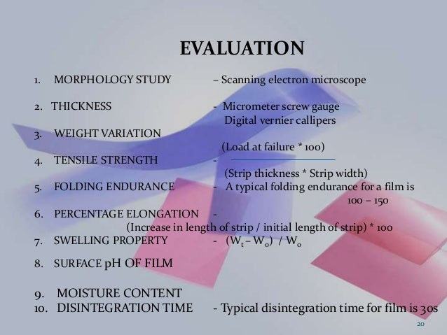 oral thin films thesis Design, evaluation and comparitive studies of oral thin films of alendronate karunakar koyyada1, dr gampa vijay kumar2, krssambasiva rao3.