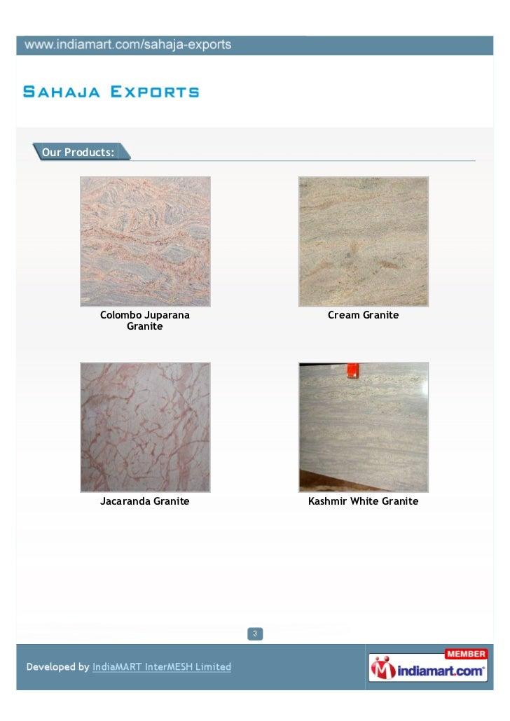 Sahaja Exports, Bengaluru, Granites Products Slide 3