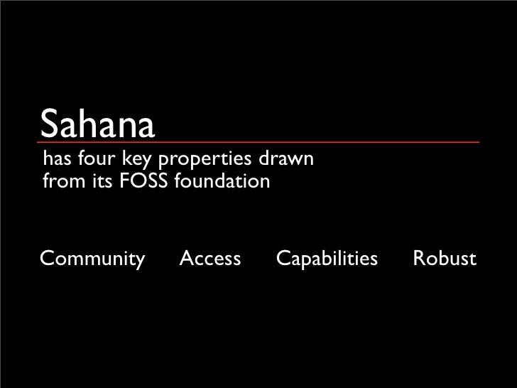 Sahana - a catalyst to widespread EMIS deployment? Slide 3