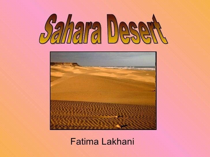 Fatima Lakhani Sahara Desert