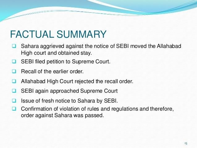 SEBI's Order in the DLF Case: A Summary