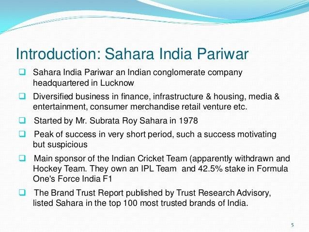introduction of sahara india pariwar