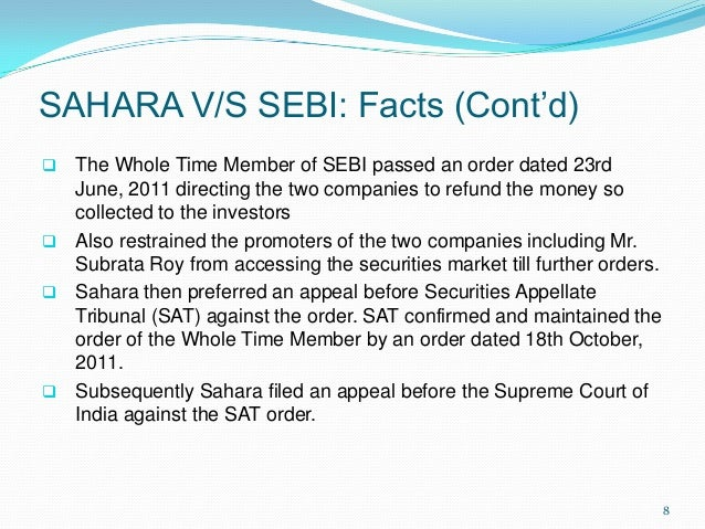 case study of sebi Case study in 1992, the bombay stock exchange (bse),3 the leading stock exchange in india, witnessed the first major scam masterminded by harshad mehta (mehta) analysts unanimously felt that if more powers had been given to sebi, the scam would not have happened.