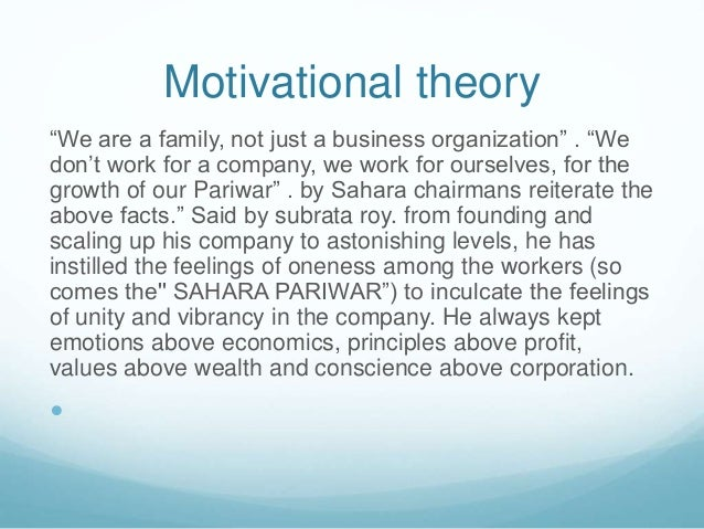 analysis of theories of motivation The cognitive approach has proved useful in the analysis of several types of motivation,  all-encompassing theories of motivation to smaller, discrete theories .