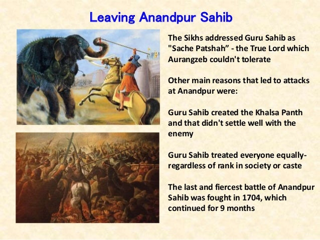 """The Sikhs addressed Guru Sahib as """"Sache Patshah"""" - the True Lord which Aurangzeb couldn't tolerate Other main reasons tha..."""