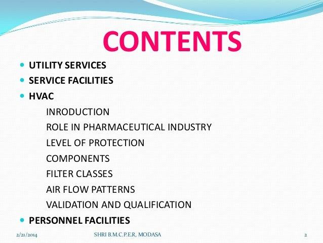 utilities in pharmaceutical industry pdf