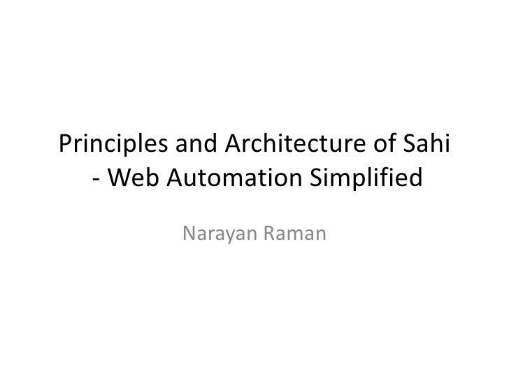 Sahi Principles And Architecture