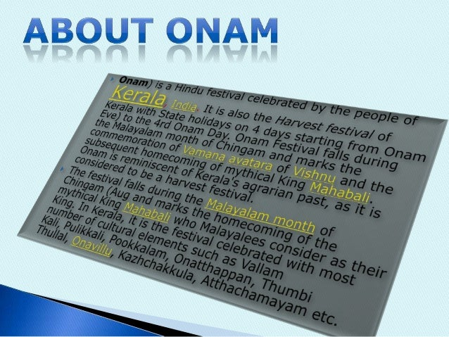 Ppt onam festival celebration in india powerpoint presentation.