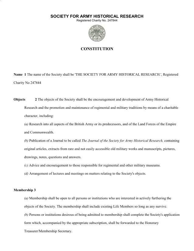 SAHR Constitution