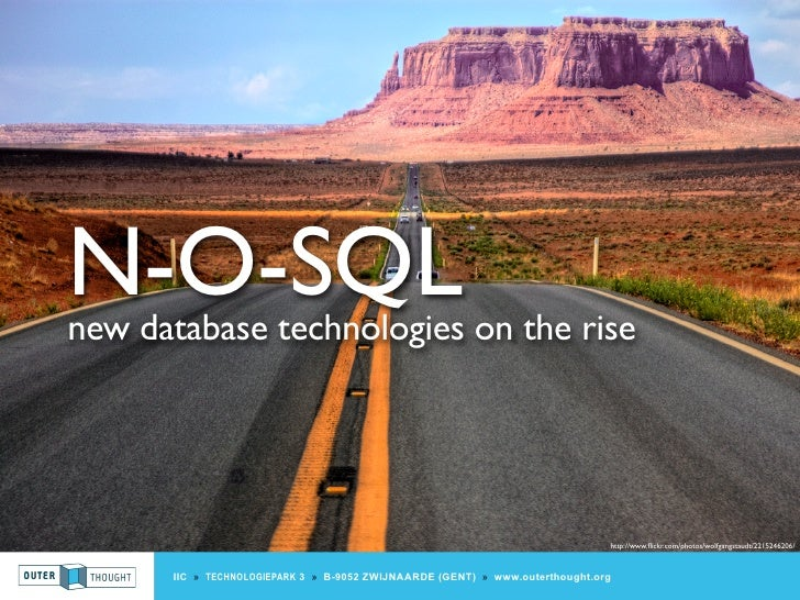 N-O-SQL new database technologies on the rise                                                                             ...