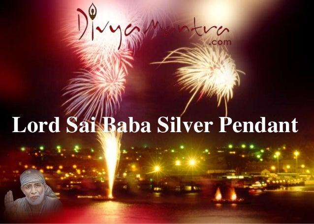 Lord Sai Baba Silver Pendant