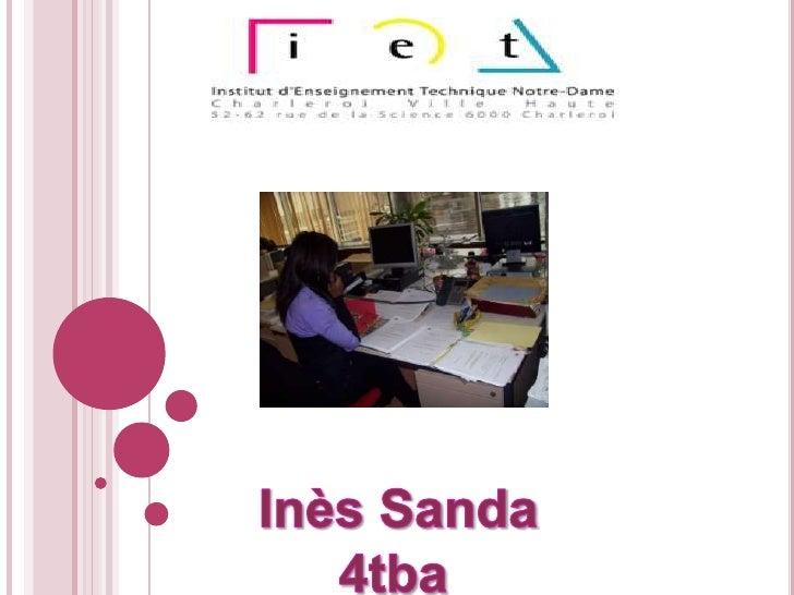 Inès Sanda<br />4tba<br />