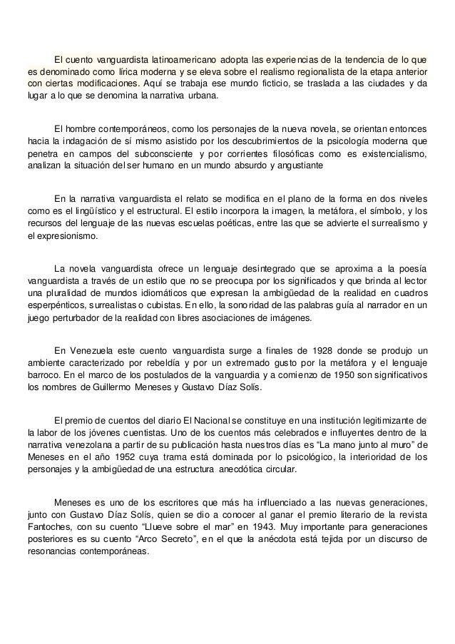 Cuento Vanguardista Latinoamericano