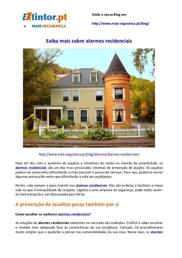 Saiba  mais  sobre  alarmes  residenciais         http://www.ma...