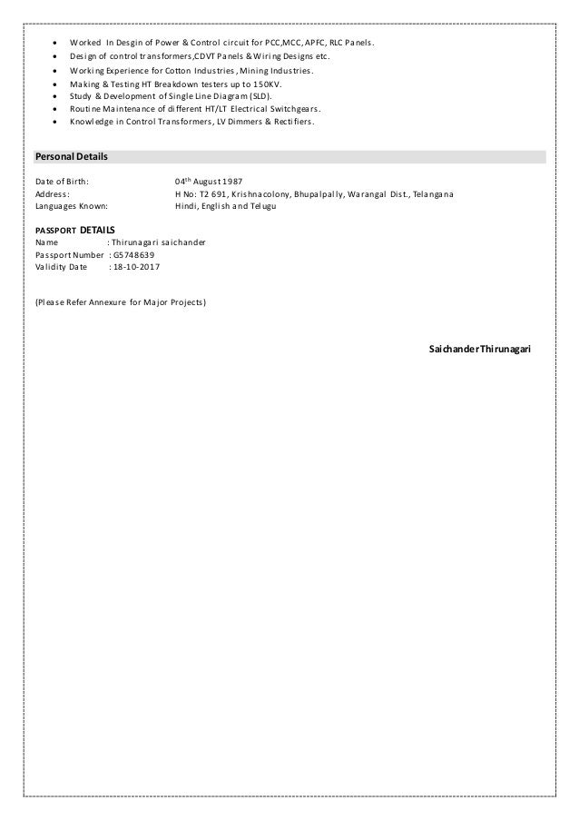 Saichander Resume