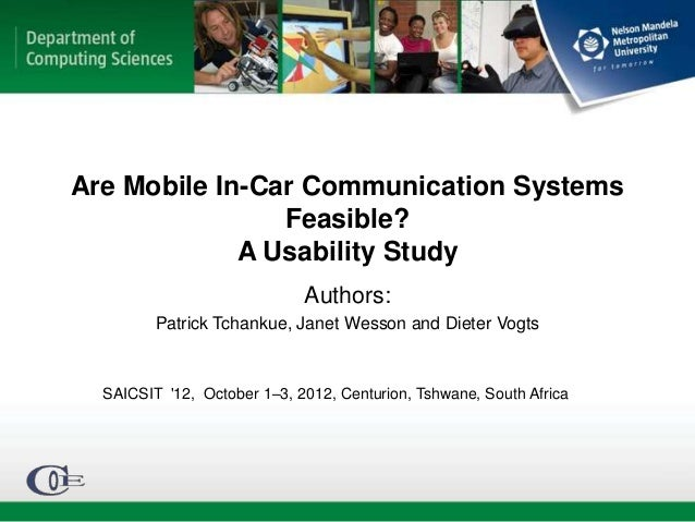 Are Mobile In-Car Communication Systems                Feasible?             A Usability Study                            ...