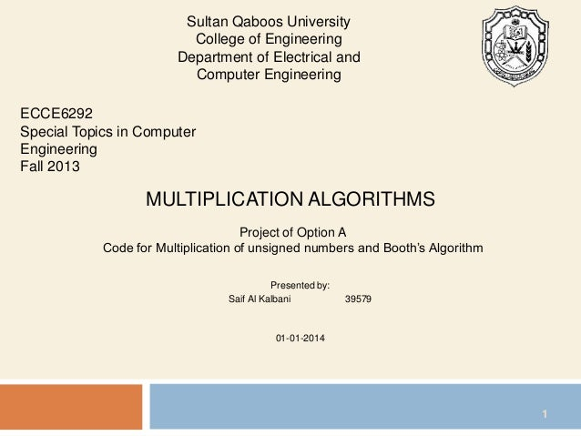 booth algo 4 multiplication Learn implementation of booth's algorithm in c programming c program for booth's multiplication algorithm with output and explanation.