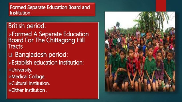 Education system of Chittagong Hill tracts