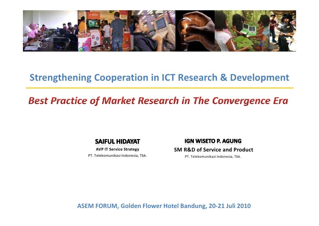 The world in your hand     Strengthening Cooperation in ICT Research & Development                      AVP IT Service Str...