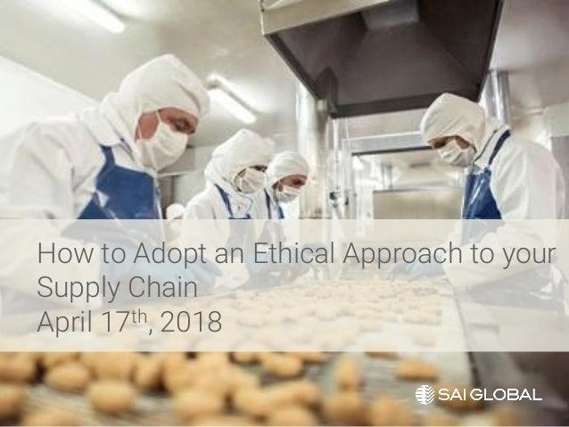 SAI Global Ethical Auditing Webinar