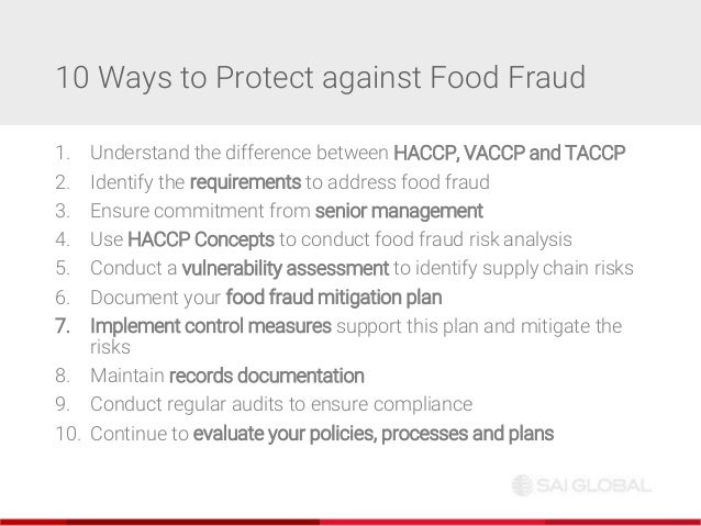 SAI Global webinar: 10 ways to protect your organisation from food fr…